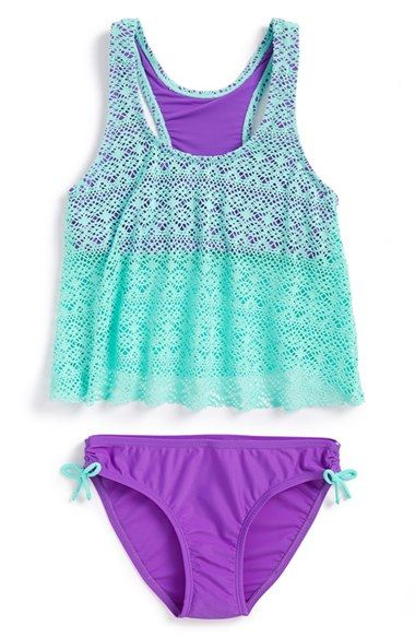 Malibu+'Summer+Romance'+Tankini+Two-Piece+Swimsuit+(Big+Girls)+available+at+#Nordstrom