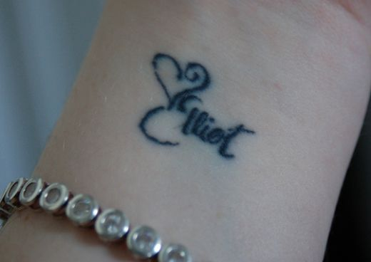 Cute Girl Tattoos On Wrist
