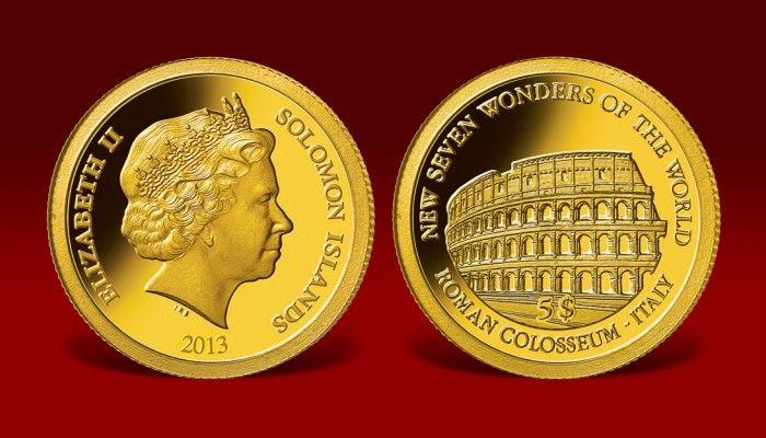 Kolekcja Nowe Siedem Cudów Świata na złotych monetach