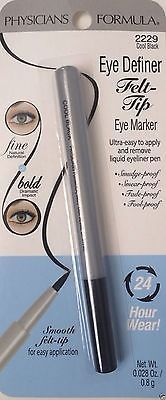 Physicians Formula Eye Definer 2229 Cool Black Felt Tip Liquid 24 Hour Wear | eBay