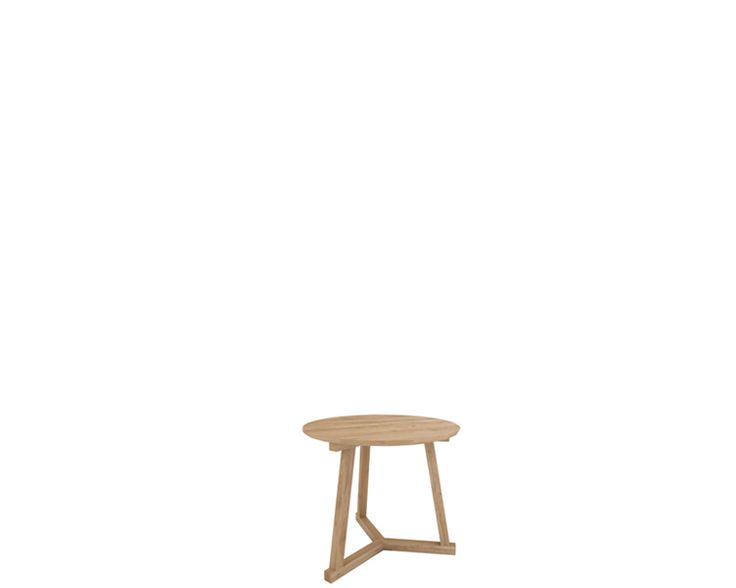Ethnicraft products occasional tables oak tripod for Table basse ethnicraft