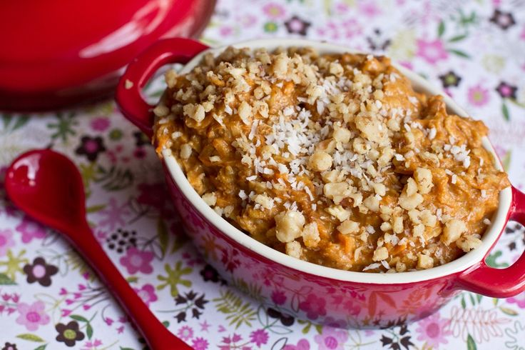 Holiday Breakfast In A Jiffy: Carrot Cake Oatmeal