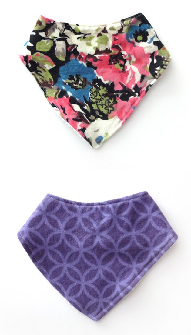 These cute and stylish bandana bibs are perfect for your little one. They are made with a soft flannel front and backed with terry cloth for extra absorbency. These bandana bibs make a great baby shower gift!