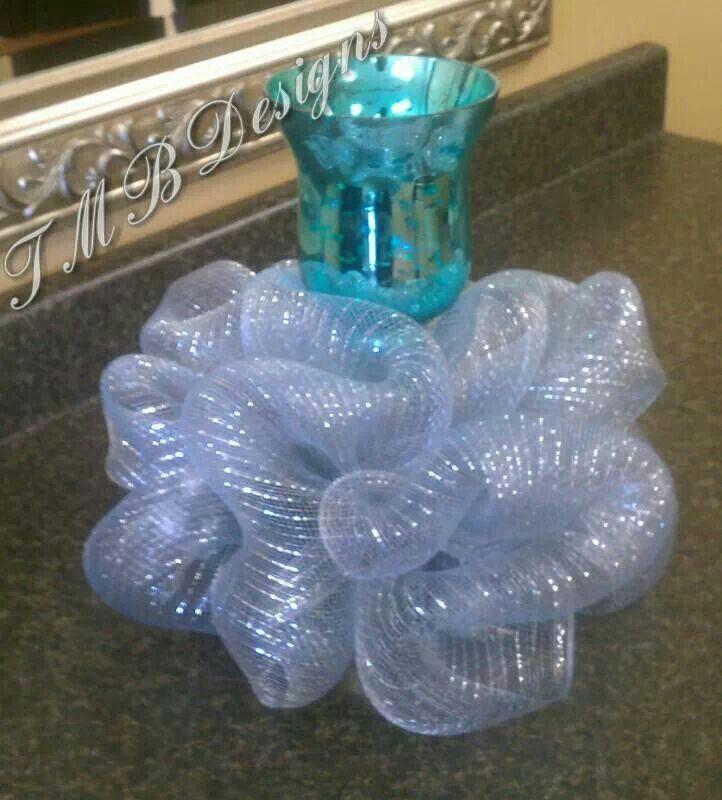Deco mesh centerpieces an creative alternative to floral