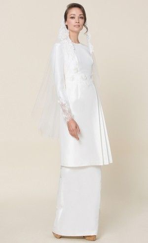 nh by NURITA HARITH étoile - LILY Kurung in White