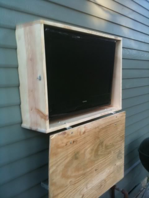 Outdoor TV cabinet @ TigerDroppings.com