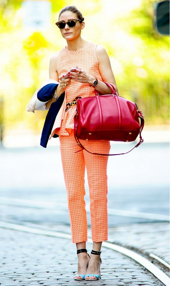 Olivia Palermo takes the matching set trend to another level // #celebritystyle