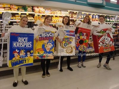 cereal box costume - Halloween Box Costumes