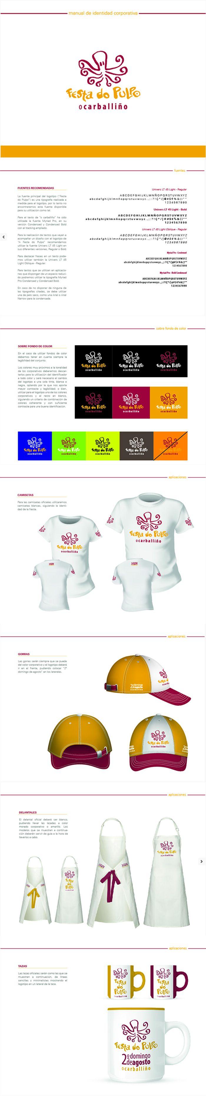 Manual de identidad Corporativa para Festa do Pulpo do Carballiño