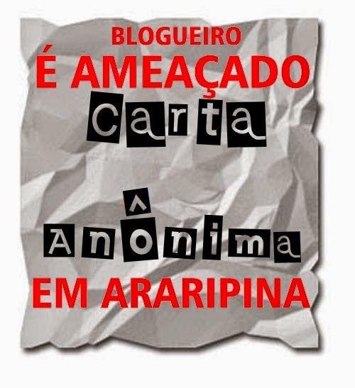 Blog Paulo Benjeri Notícias: Blogueiro de Araripina é ameaçado via carta anônim...