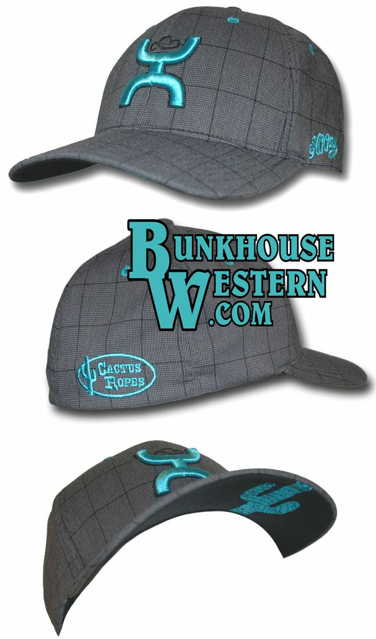 Turquoise and Gray Plaid HOOey Cap 660dbb5d3f5
