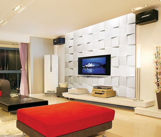 Best 25 tv feature wall ideas on pinterest lcd tv - Living room feature wallpaper ideas ...