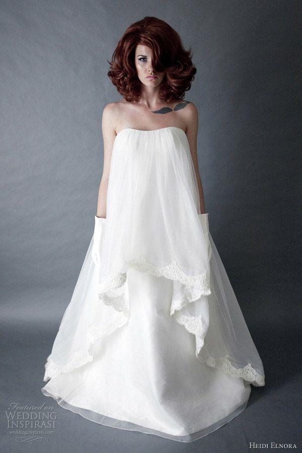 heidi elnora wedding dresses spring 2013 katie ford strapless silk a line gown    definitely a statement dress