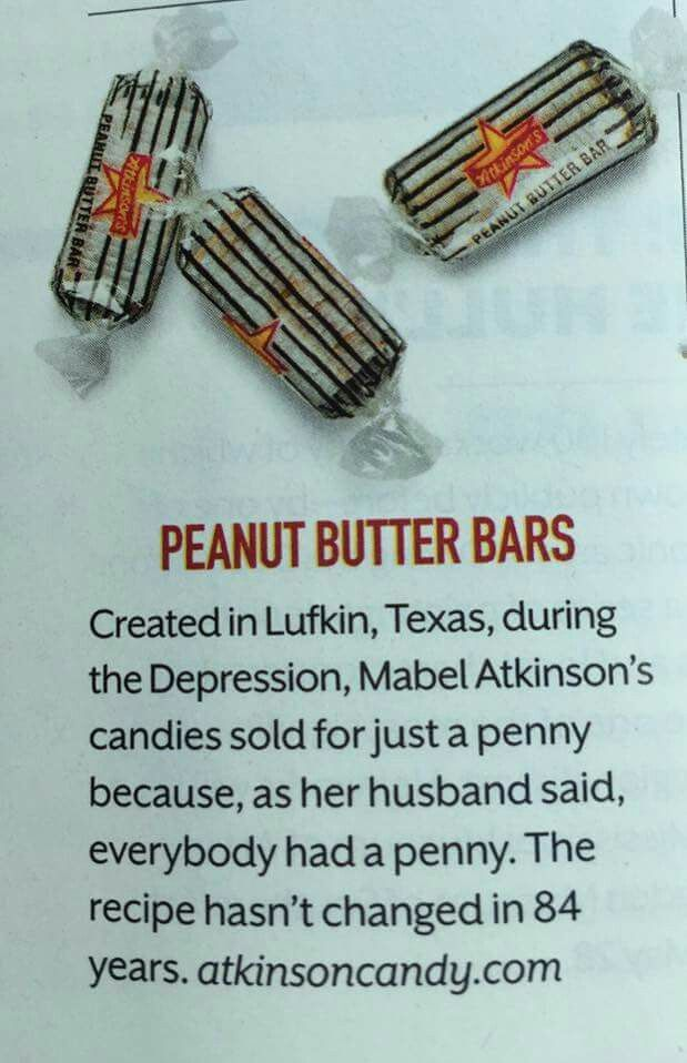 Atkinson's Peanut Butter Bars - Lufkin, Texas