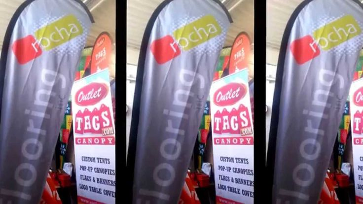 Promotional - Custom Swooper Advertising Flags - OutletTags.com