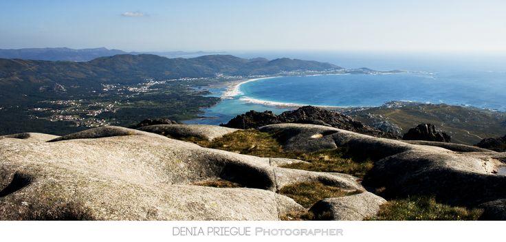 Vista de la playa de Carnota desde Monte Pindo