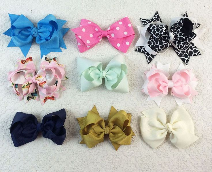 Hot selling vintage 9pcs different style baby girl hair Accessory bow clip Z21 Y #miniangel