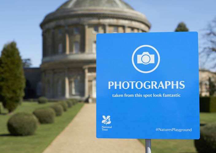 #NaturesPlayground signage for National Trust by Click Design Consultants