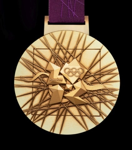 The London 2012 Olympic medals have been designed by artist David Watkins come through a six-way Locog tender with his design which casts the Wolff Olins Olympics logo with a set of other symbols.
