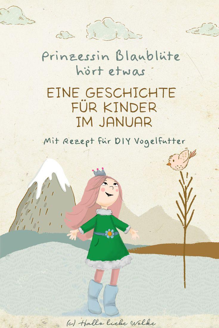 Prinzessin Blaublüte hört etwas – ein Kinderbuch als eBook zum Januar (Natur & Umwelt)