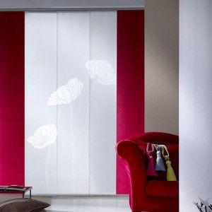 Kit Panneaux Japonais Coquelicot Rouge et Blanc 2m