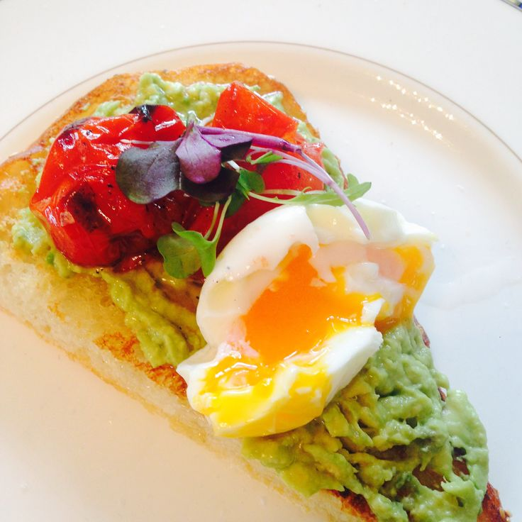 Avocado And Egg On Turkish Pide.