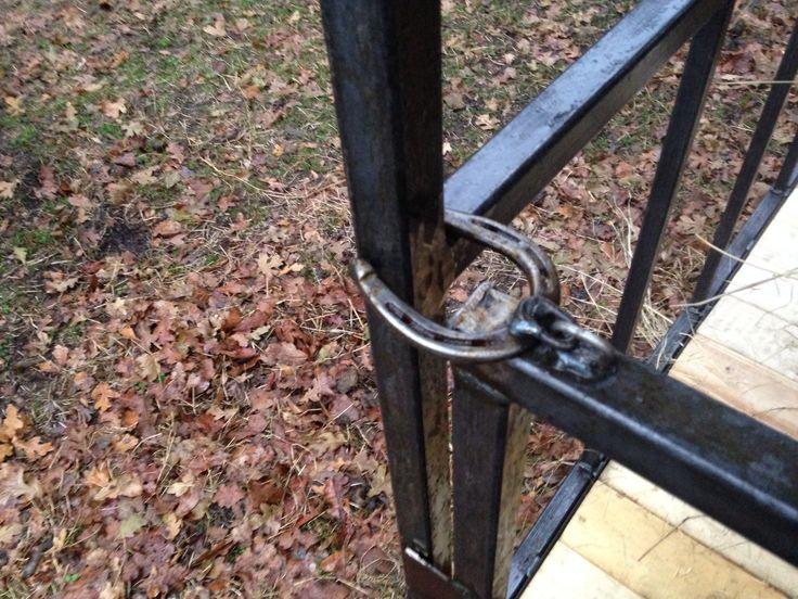 Horseshoe Gate Latch My Welding Projects Pinterest Gates