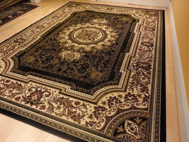 new black 8x11 persian tabriz style rug 5x8 area rug 5x7 carpet 8x10 area rugs