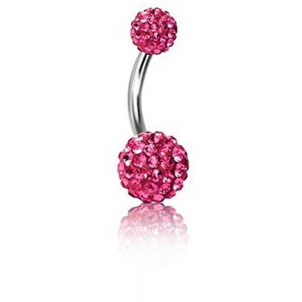 Bling Jewelry Fuchsia Ball Charmer Body Jewelry ($9.99) ❤ liked on Polyvore featuring jewelry, body jewelry, body-piercing-rings, pink, fuschia jewelry, pink jewelry, belly rings jewelry and body jewellery