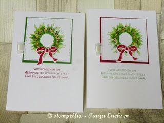 Stempelfix: Karten Geschenkset - Herbstanfang Weihnachtskarte