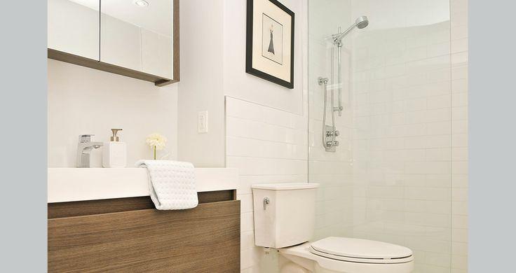 Fia Interiors Custom Bath. Floating vanity by Vienna Douglas.