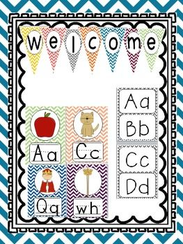 This fun color chevron themed pack will bright up any classroom. Simplify your classroom set up this year!
