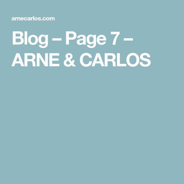 Blog – Page 7 – ARNE & CARLOS