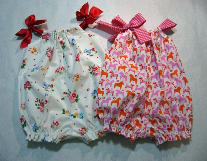 Baby Girl's Romper Pattern --- quick and super easy to make. This would have to be the quickest and easiest romper you will ever make. A great little everyday outfit for babies and toddlers from 3 months to 4 years old. Soft and comfortable for your little one to wear all day. You can make it with or without the crotch fasteners.