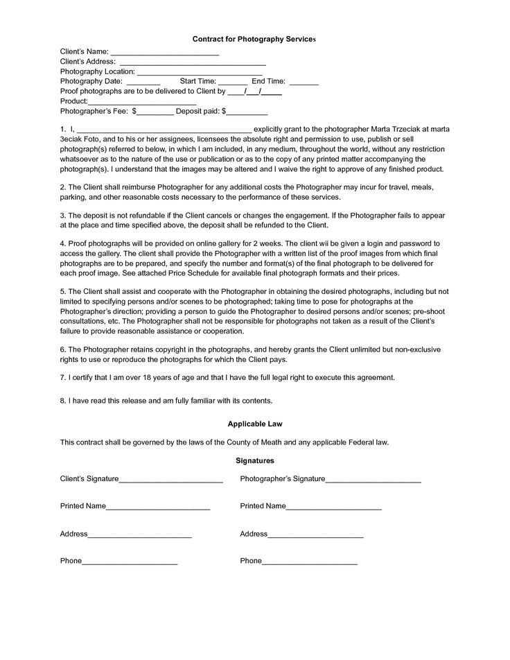Wedding photography contracts - thelawtog, Itu0027s so hard when you - photography services contract