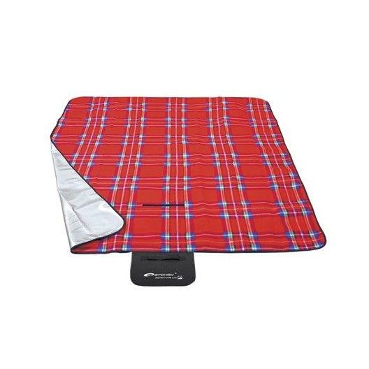 Kockovaná pikniková deka červenej farby