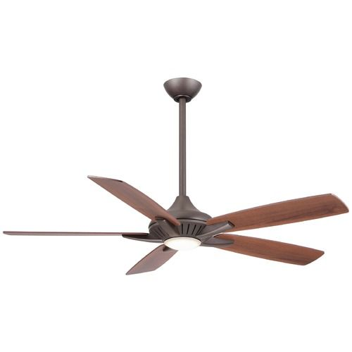 Minka Aire Fans Dyno Oil-Rubbed Bronze LED Ceiling Fan with Light | F1000-ORB…