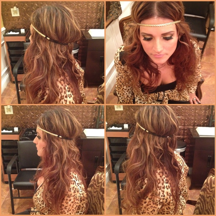 Curls with a head band.. 70s hair!! By colorangel5@hotmail.com
