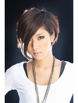 Seriously considering this cut. Short enough to be less work, yet long enough to hide my round face.