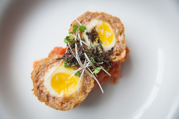 The Scotch Egg ($4) from Weslodge Saloon is certainly worth the visit. Located at 478 King Street West.