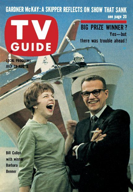 TV Guide, July 28, 1962 - Bill Cullen with Barbara Benner