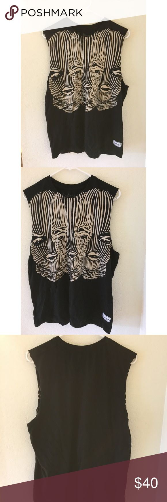 Badwood Wife Beater Top Large Badwood shirt. Never worn as I'm a size Small so it's a bigger fit. Sides came cut. badwood Tops