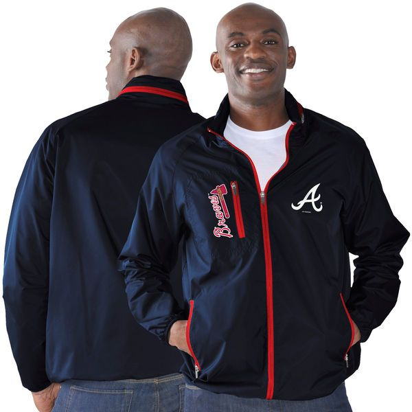 Atlanta Braves G-III Sports by Carl Banks Game Plan Full-Zip Jacket - Navy - $56.99
