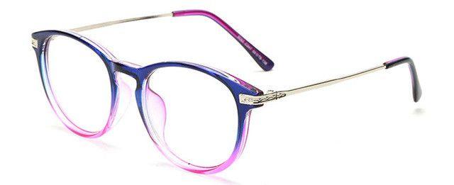 SHAUNA Retro Women Round Eyeglasses Frame Brand Designer Fashion Men Optical Glasses Reading Glasses