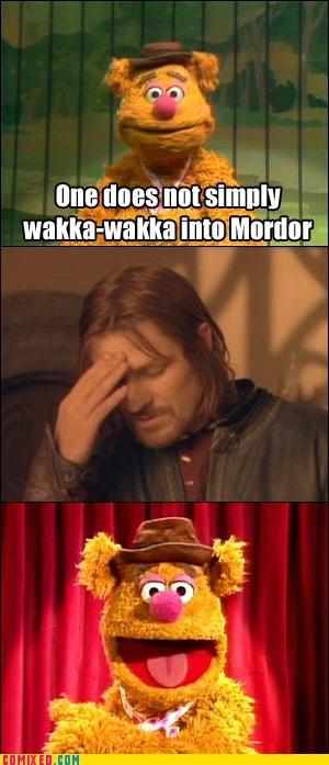 Wakka wakka! #LOTRGeek, The Lord, Laugh, Keep Smile, Funny Pictures, Wakka Wakka, Funny Stuff, The Muppets, Wakkawakka