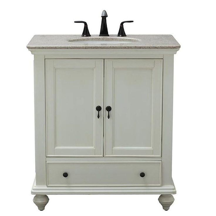 Home Decorators Collection Newport 25 In Vanity In Ivory With Granite Vanity Top In Champagne