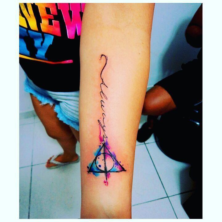 Harry Potter #instasize #artworkoftheday #artist #drawings #illustrations #inspirations #tattoo #tatuagem #watercolortattoo #aquarelatattoo #watercolor #art #draw #arte #vitoriaes #espiritosanto by caco_tattoo