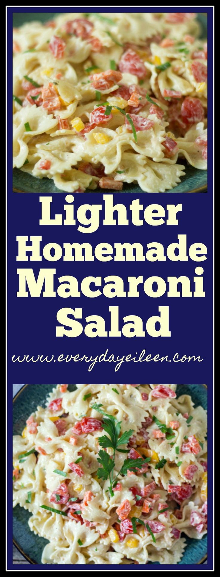 Lighter Homemade Macaroni Salad