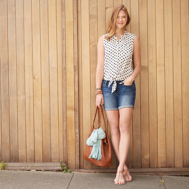 So cute! And I love that it could go to the playground or a casual date night. Trend Alert: Polka Dots