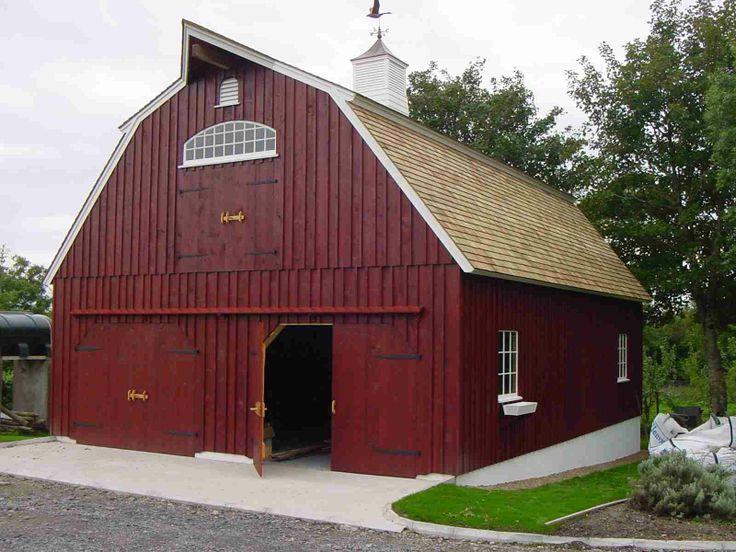 29 best gambrel barn plans images on pinterest barn for Gambrel style barns